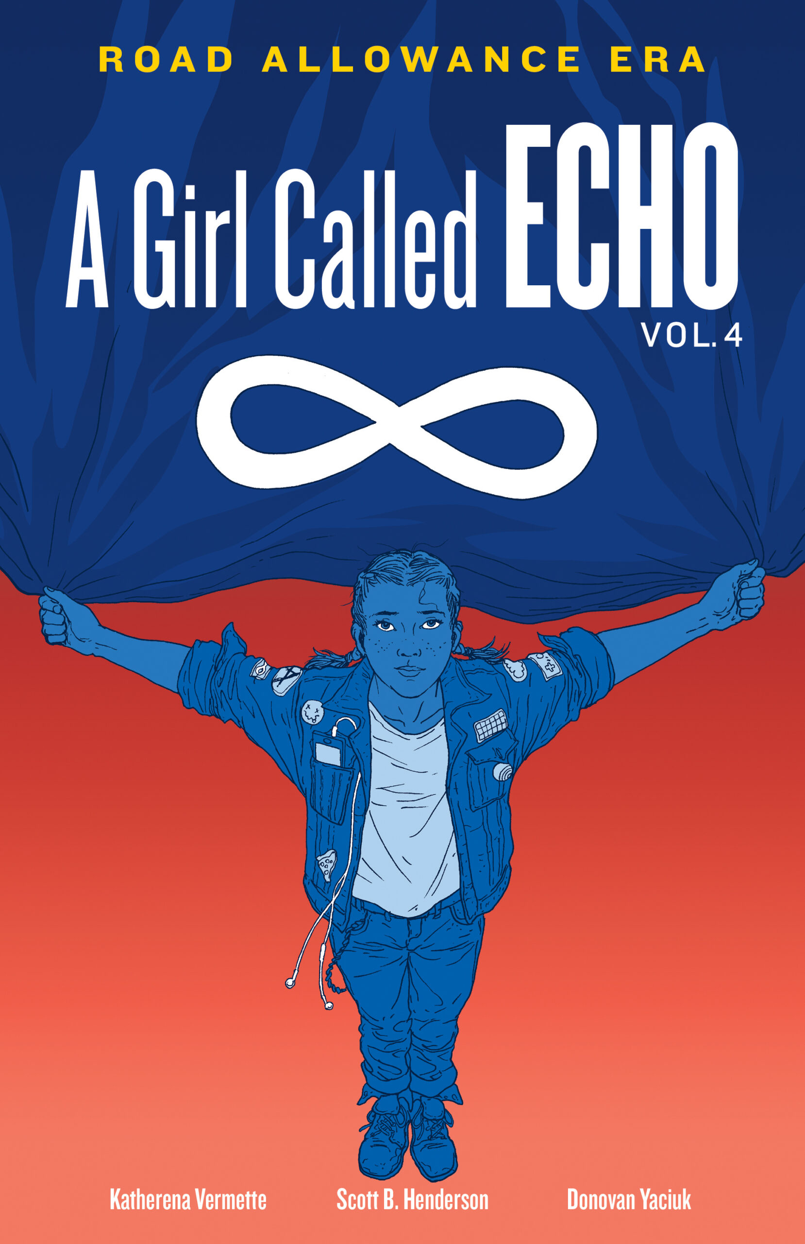 The book cover for Vol. 4, A Girl Called Echo by Katherena Vermette.